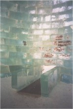 Steven Holl and Jene Hingstein designed ice building build be Snowhow 2003