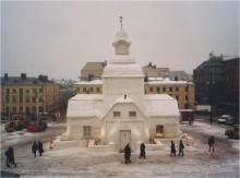 Lumikirkko 2000 Helsinki. Konsultointi: SNOWHOW, rakentajat: Helsingin Rakennusmestariyhdistys
