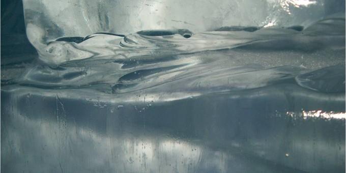 Sulavaa jääseinä: upeaa veden luonnollista muodostumaa!